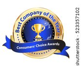 best company of the year ... | Shutterstock .eps vector #523357102