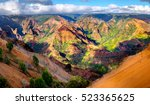 Panoramic landscape view of Waimea Canyon in Kauai, Maui, USA