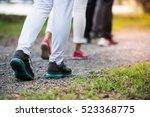 group of people wear sport...   Shutterstock . vector #523368775