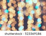 festive bokeh background | Shutterstock . vector #523369186