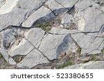 close up white stone pavement... | Shutterstock . vector #523380655