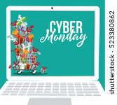 cyber monday background design. ... | Shutterstock .eps vector #523380862