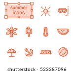 thin line icons set  linear... | Shutterstock .eps vector #523387096