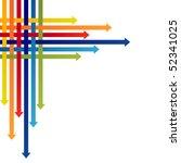 colored arrows vector | Shutterstock .eps vector #52341025