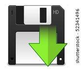 floppy disk   Shutterstock .eps vector #52341496