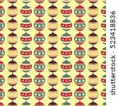 christmas ball pattern | Shutterstock .eps vector #523418836