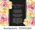 vintage delicate invitation... | Shutterstock .eps vector #523431505