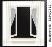 open window and white...   Shutterstock .eps vector #523432912