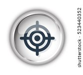 web button with black target... | Shutterstock . vector #523440352