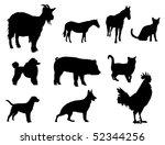 farm animals | Shutterstock .eps vector #52344256