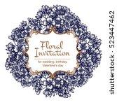 romantic invitation. wedding ... | Shutterstock . vector #523447462