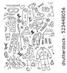 skiing collection  sketch for... | Shutterstock .eps vector #523448056