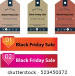 black friday shopping tag | Shutterstock .eps vector #523450372