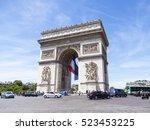 paris  france  on july 10  2016.... | Shutterstock . vector #523453225