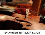 violin. profile violin. four... | Shutterstock . vector #523456726