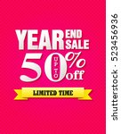 year and sale paper folding...   Shutterstock .eps vector #523456936