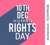 human rights day poster or... | Shutterstock .eps vector #523459636
