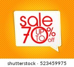 sale design save up to 70... | Shutterstock .eps vector #523459975
