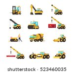 set of construction equipment.... | Shutterstock .eps vector #523460035