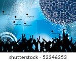 dancing people | Shutterstock .eps vector #52346353