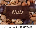 nuts   Shutterstock . vector #523478692
