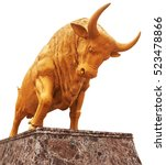 golden bull as a symbol of... | Shutterstock . vector #523478866