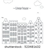background linear city  home ... | Shutterstock .eps vector #523481632