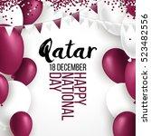 18 december qatar happy... | Shutterstock .eps vector #523482556
