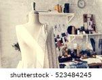 fashion design mannequin... | Shutterstock . vector #523484245