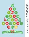 christmas advent calendar | Shutterstock .eps vector #523486036