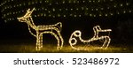 Illuminated Reindeer With Sleigh