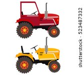 Flat Illustration Of A Tractor...