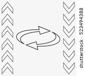 arrow indicates the direction ... | Shutterstock .eps vector #523494388