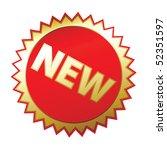 new sticker  a white background ... | Shutterstock .eps vector #52351597