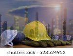 safety in refinery concept ... | Shutterstock . vector #523524952