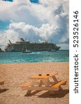 Small photo of Nassau, Bahamas - Sep 30, 2013: Royal Caribbean cruise ship Allure of the Seas docked at port.