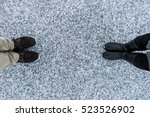 men's and women boots on rough...   Shutterstock . vector #523526902