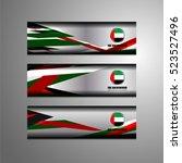 united arab emirates flag color ...   Shutterstock .eps vector #523527496