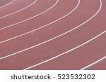 Small photo of All-weather running track perspective useful as sport or competition concept