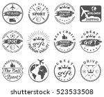 set of vintage  sports  gift... | Shutterstock .eps vector #523533508