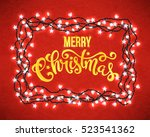 christmas party poster with... | Shutterstock .eps vector #523541362