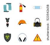 construction icons set. flat... | Shutterstock . vector #523542658
