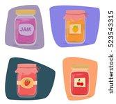 jar of jam | Shutterstock .eps vector #523543315