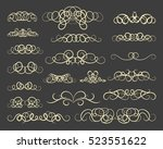 vintage decor elements and... | Shutterstock .eps vector #523551622