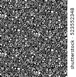 cute seamless pattern black and ... | Shutterstock .eps vector #523552348