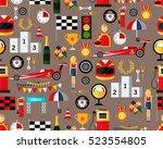 vector flat seamless texture... | Shutterstock .eps vector #523554805