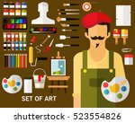set of art concept background....