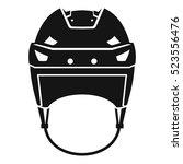 hockey helmet icon. simple... | Shutterstock . vector #523556476