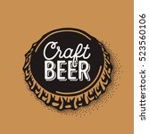 craft beer bottle cap with... | Shutterstock .eps vector #523560106