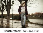 young lady | Shutterstock . vector #523561612